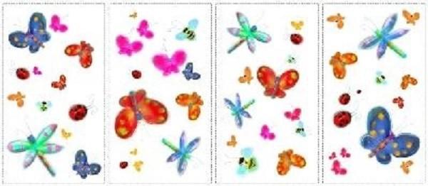 ROOM MATES Wandsticker Schmetterlinge