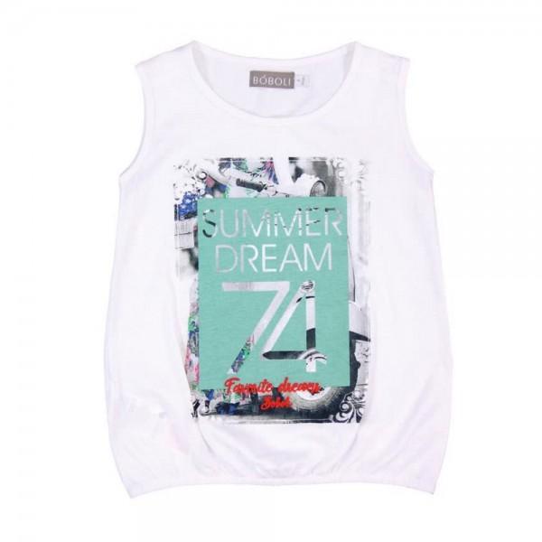 Bóboli Mädchen Shirt Summer Dream weiß Gr. 98 - 164