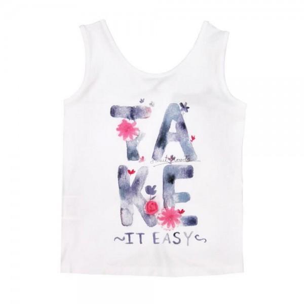 Bóboli Mädchen Trägershirt Take it easy weiß Gr. 98 - 164