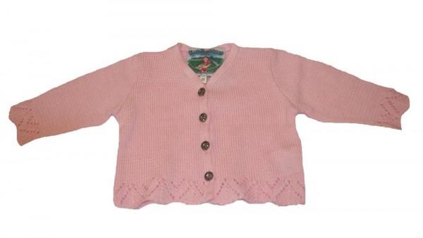Trachten Strickjacke rosa für Mädchen Gr. 98 - 164
