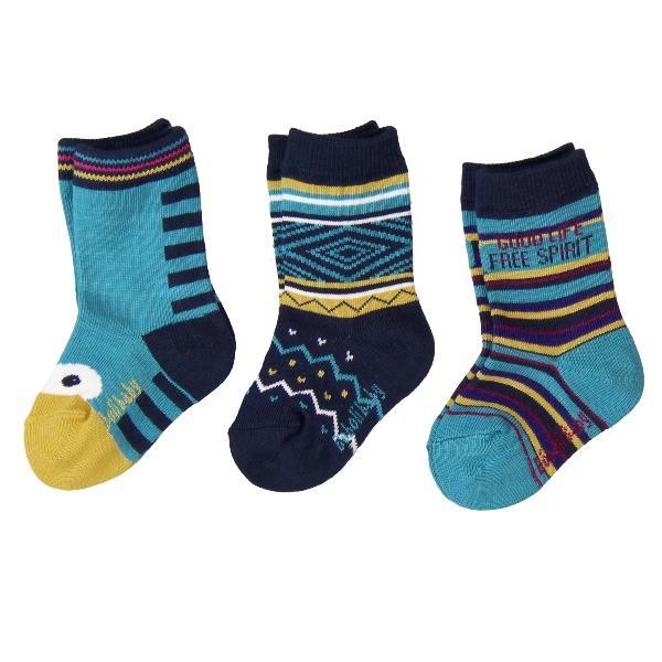 Bóboli Jungen Socken 3er Pack türkisblau Gr. 16-27