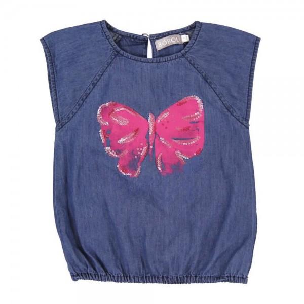 Bóboli Mädchen Bluse Schmetterling Gr. 98 - 164