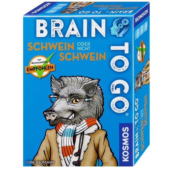 Kosmos Kartenspiel Brain to go - Schwein oder nicht Schwein