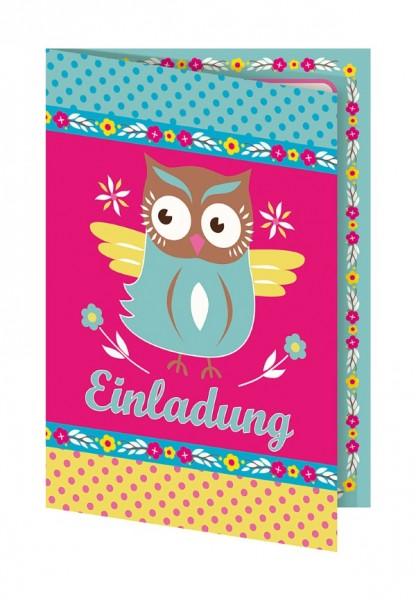 Adelheid Einladungskarte Kleine Eule