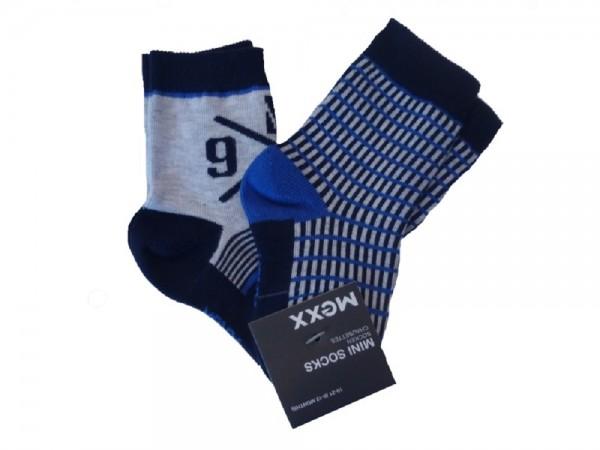 MEXX Jungen Baby Socken Doppelpackung blue yonder melange
