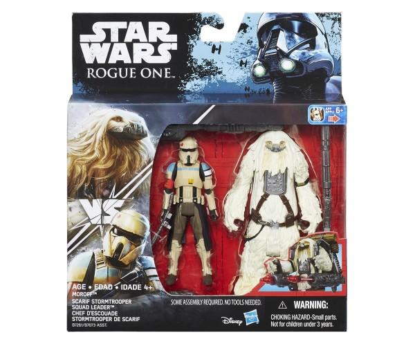 Hasbro StarWars Rogue One Battle-Action Figuren Moroff & Scarif Stormtrooper