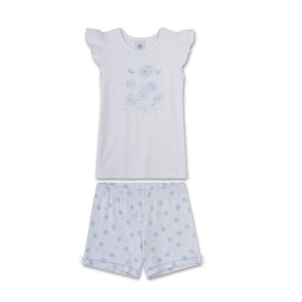Sanetta Mädchen Schlafanzug kurz Pusteblumen Gr. 92 - 140