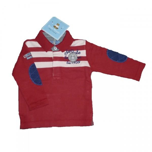 RIVER WOODS Jungen Kinder Langarm-Polo-Shirt Gr. 74 - 104
