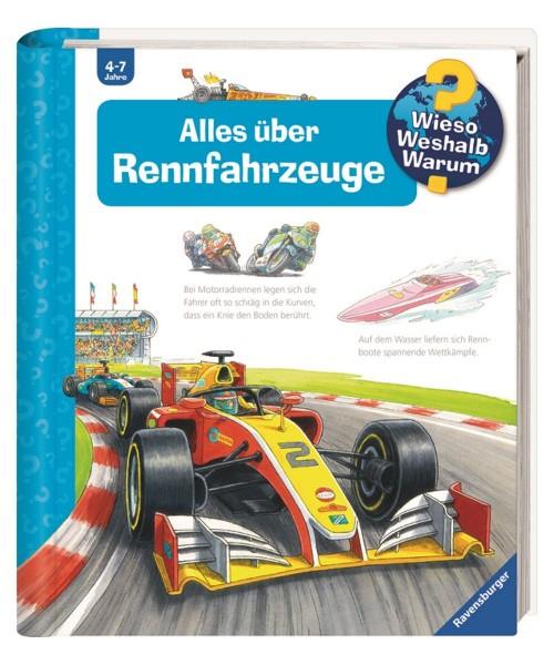 Ravensburger Kinder Buch Wieso Weshalb Warum? Alles über Rennfahrzeuge