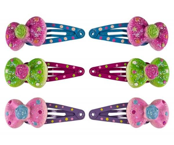 Mädchen Haarspangen mit Schleife 2er Set
