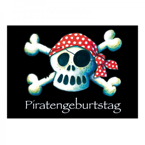 LUTZ MAUDER Kindergeburtstag Einladungskarte Jolly Roger