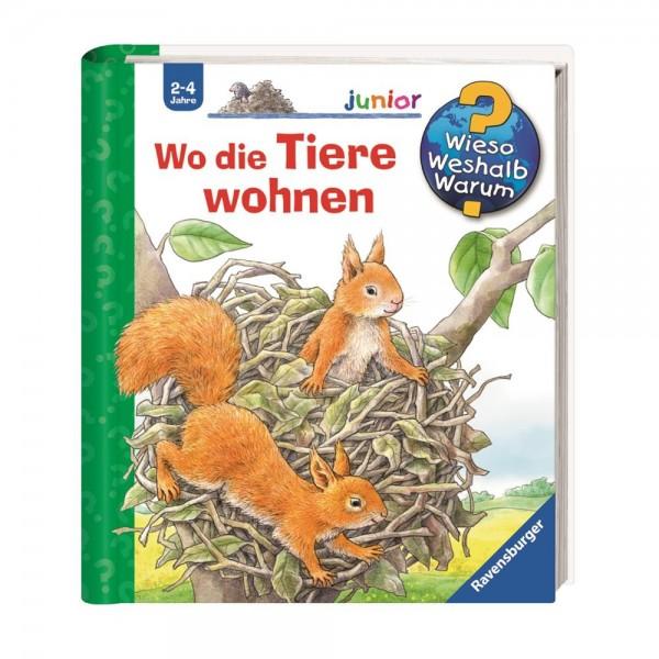 Ravensburger Wieso Weshalb Warum? Junior Wo die Tiere wohnen (Band 46)