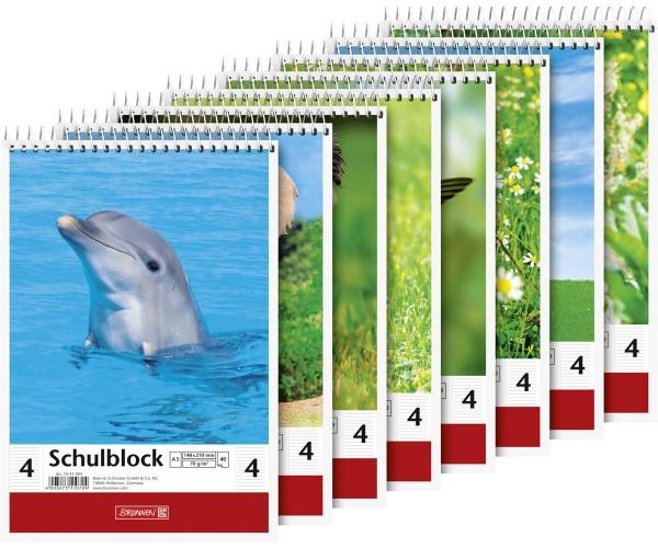 Schulblock A5 liniert Lineatur 4