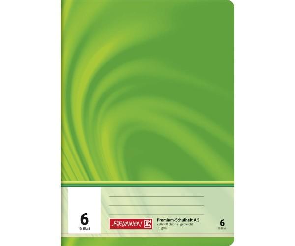 Schulheft A5 blanko Lineatur 6 (16 Blatt)