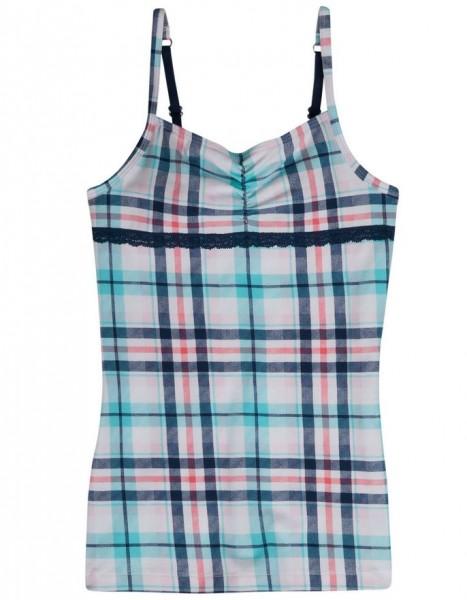 SANETTA - Mädchen Unterhemd kariert