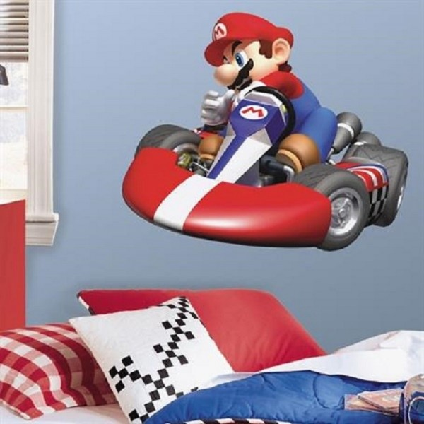 ROOM MATES XXL Wandsticker Mario Kart Wii