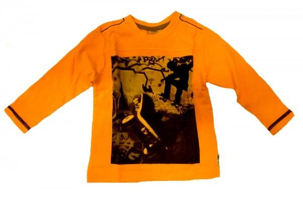 MEXX Jungen Kinder Langarmshirt orange pop fluoresecent Gr. 92 - 128