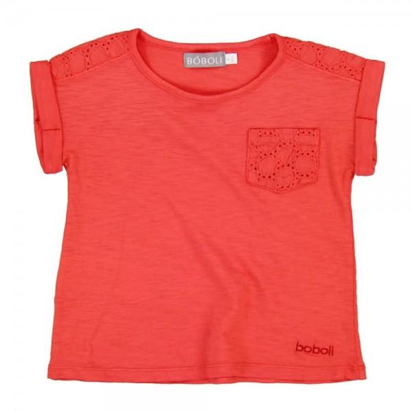 Bóboli Mädchen T-Shirt korallrot Gr. 98 - 164