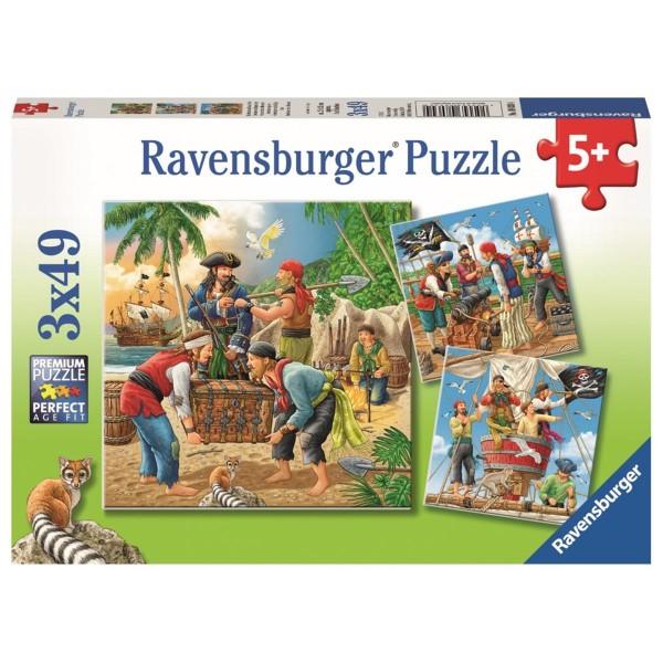 Ravensburger Kinder-Puzzle 3 x 49 Teile Abenteuer auf hoher See