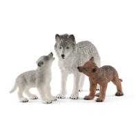 Schleich Wild Life Spielset Wolfsmutter mit Welpen