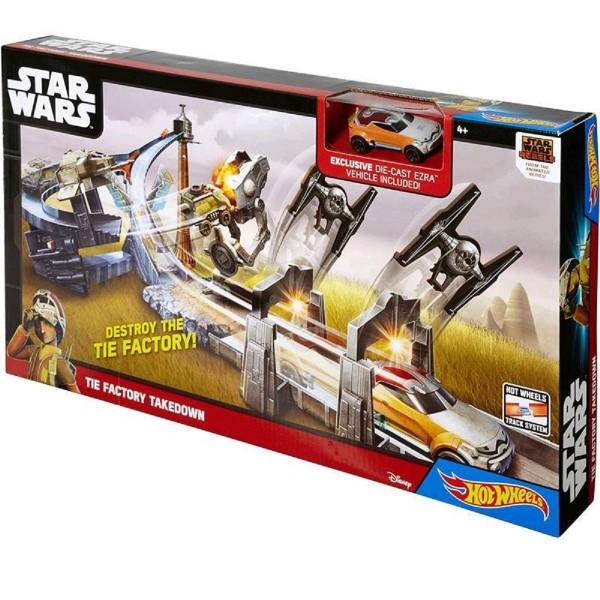 Mattel Hot Wheels Spielset Star Wars Angriff auf die Tie-Jäger-Fabrik