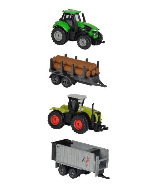 Majorette Farmfahrzeuge mit Holzanhänger