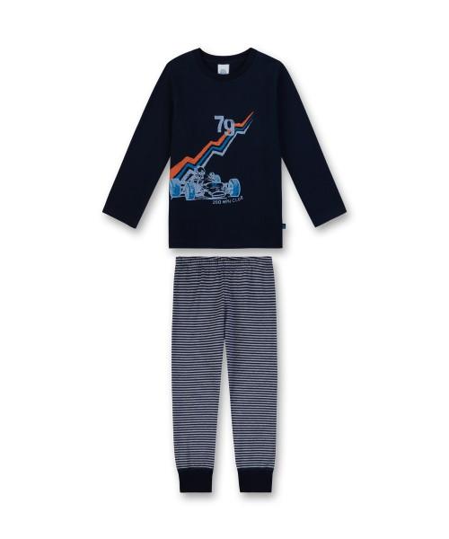 Sanetta Jungen Schlafanzug lang Rennauto blau Gr. 92 - 140
