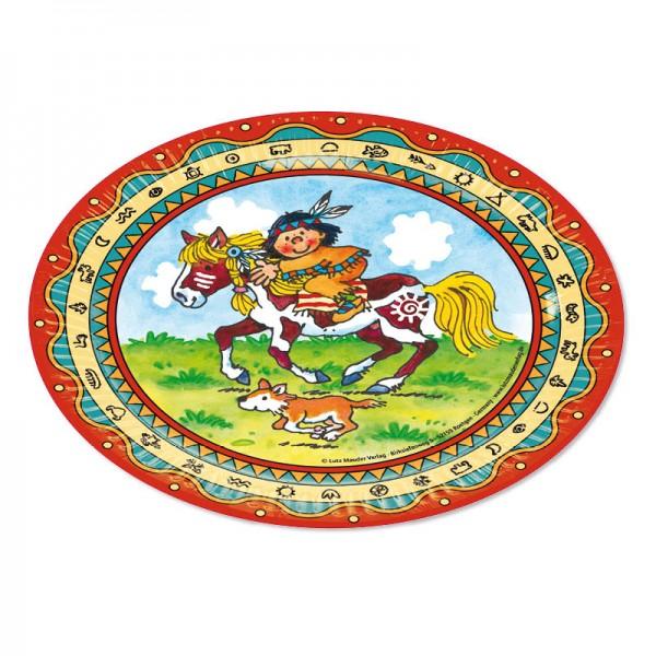 Lutz Mauder Kindergeburtstag Partyteller Indianer