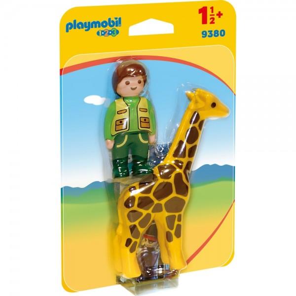 Playmobil® 123 Tierpfleger mit Giraffe 9380