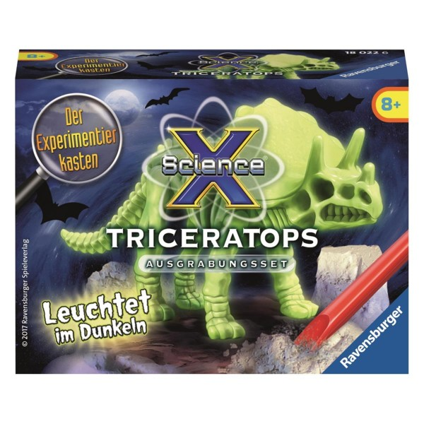 Ravensburger ScienceX® Glow in the dark SX Triceratops