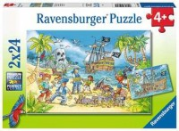 Ravensburger Kinder Puzzle 2 x 24 Teile Die Abenteuerinsel