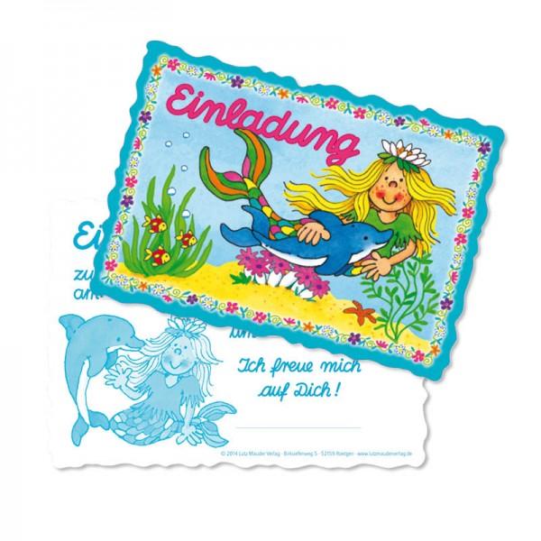 LUTZ MAUDER Kindergeburtstag Einladungskarten Nixe Sina
