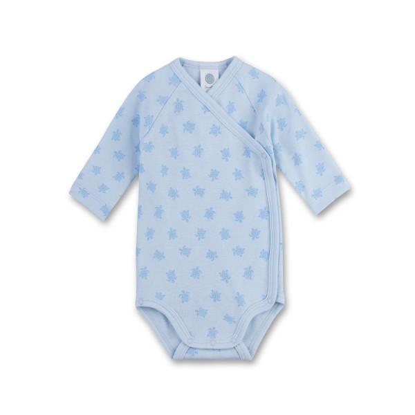 Sanetta Baby Langarm Wickelbody Schildkröten blau