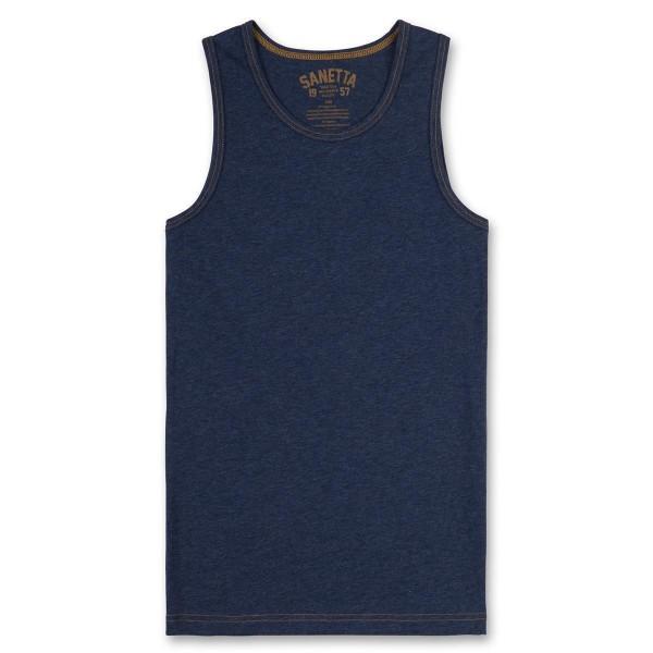 Sanetta Jungen Unterhemd blau melange Gr. 128 - 164