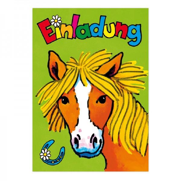 LUTZ MAUDER Kindergeburtstag Einladungskarte Pony
