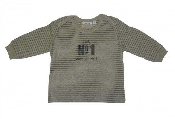 MEXX Jungen Baby Langarmshirt braun (ivory heather) Gr. 56 - 68