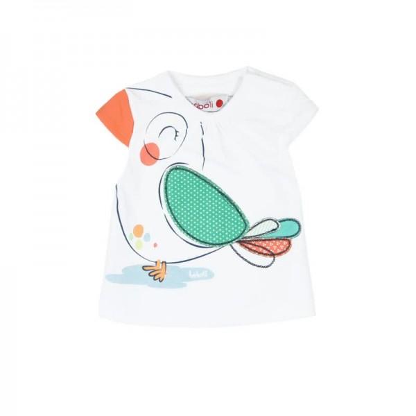 Bóboli Mädchen T-Shirt Paradiesvogel Gr. 56-92