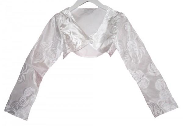 MONNY festliche weiße Bolero-Jacke für Kommunion, Hochz. Gr.134 - 146
