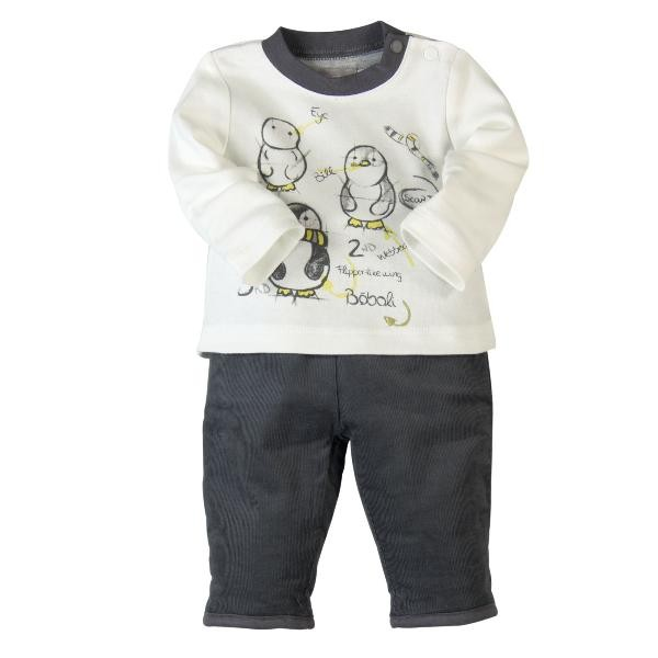Bóboli Baby-Set Pinguin Langarmbody und Hose für Jungen Gr. 50 - 80