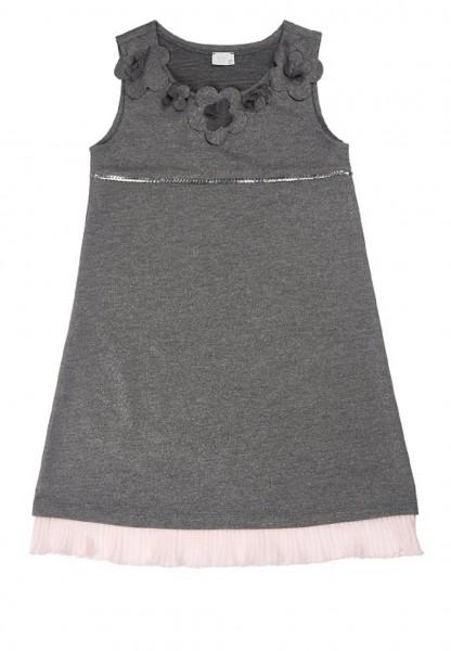 Königsmühle festliches Mädchen Kleid grau Gr. 92 - 128