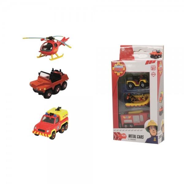 Simba Feuerwehrmann Sam Fahrzeuge 3er Pack
