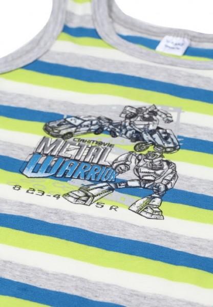 KANZ Jungen Unterhemd Roboter Gr. 92 - 128