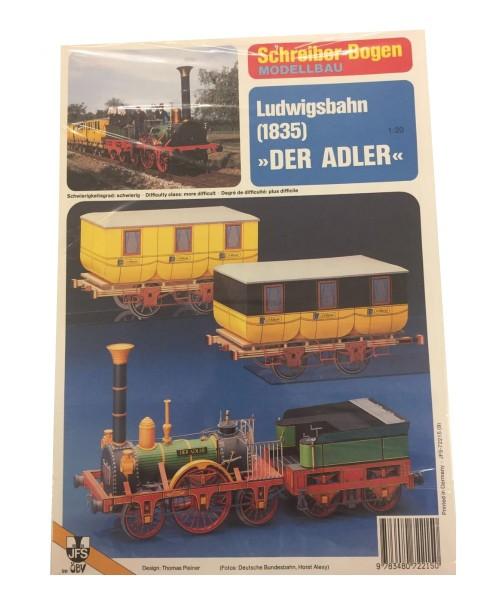 Schreiber-Bogen Kartonmodellbau Ludwigsbahn (1835) Der Adler