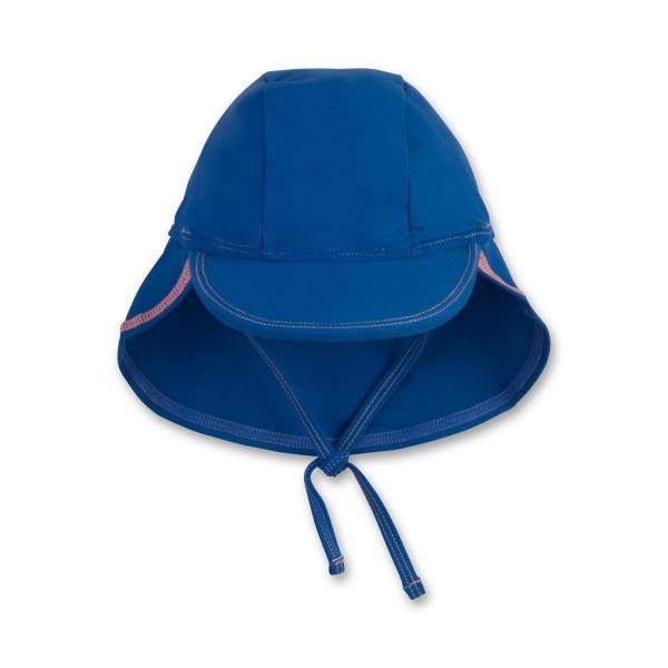 Sanetta Jungen UV-Schutz Sonnenmütze mit Nackenschutz blau