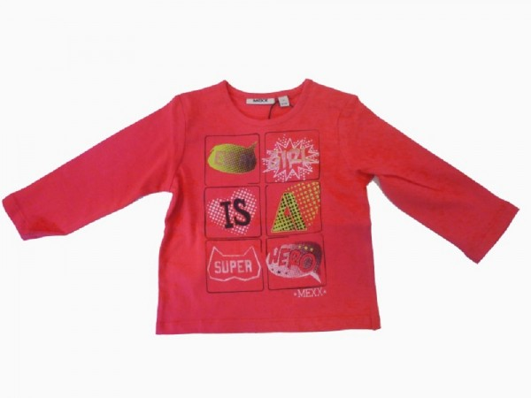 MEXX - Kinder Langarmshirt rose red - Mädchen Gr. 74 - 92