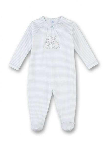 Sanetta Mädchen Baby Schlafstrampler Häschen blau gestreift Gr. 56 - 92