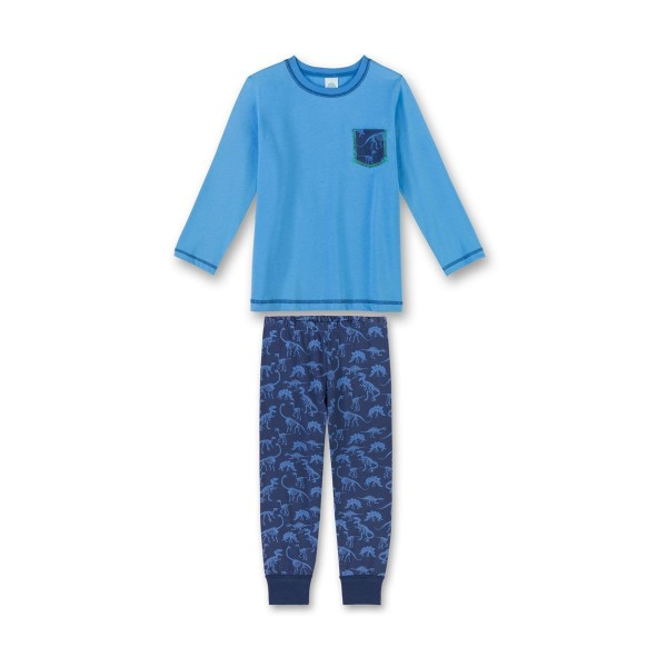 Sanetta Jungen Schlafanzug lang Dinosaurier blau Gr. 92 - 140