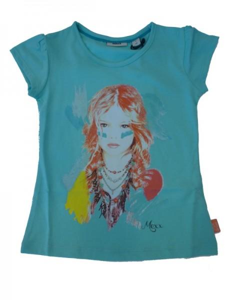 MEXX Mädchen T-Shirt mit Frontdruck aruba blue Gr. 98 - 152