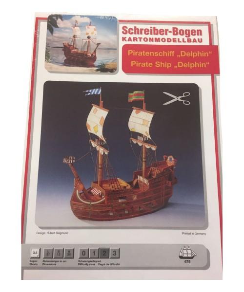 Schreiber-Bogen Kartonmodellbau Piratenschiff Delphin