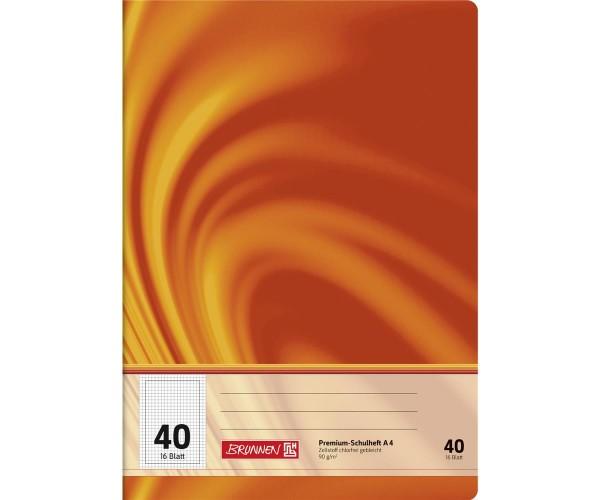 Schulheft A4 kariert Lineatur 40 (16 Blatt)
